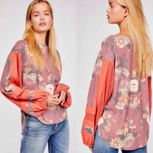Free People Flower Patch Floral Thermal Top